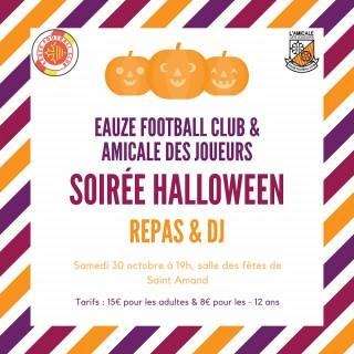 Repas d'Halloween au football club d'Eauze