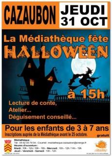 mediathèque fête Halloween