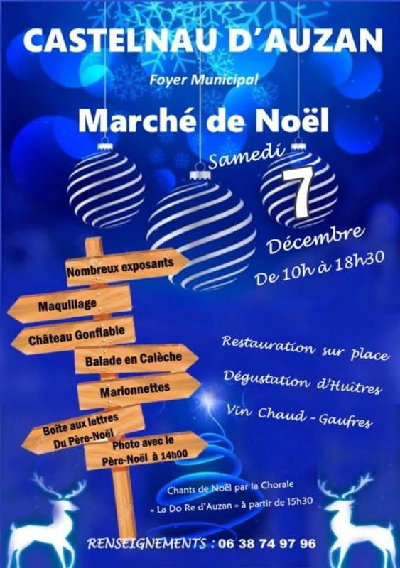 marche de noel à Castelnau d'Auzan