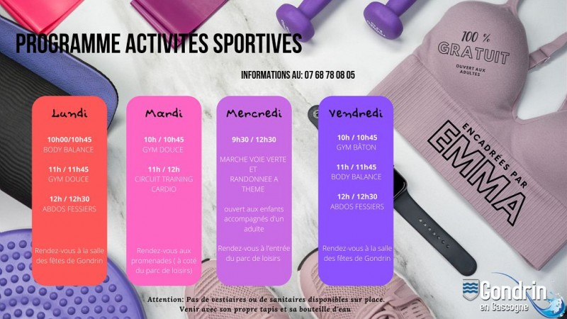 ACTIVITES DE GONDRIN